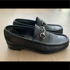 Gucci Mens Leather Horsebit Loafers Sz 8.5 (UK 8)